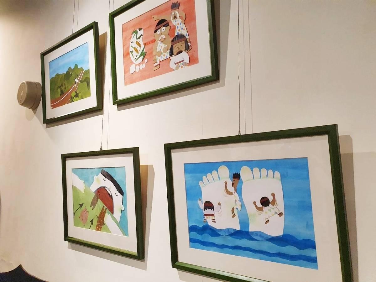 臺東大學兒文所學生改編太魯閣族巨人傳說,並以日本傳統連環話劇「紙芝居」形式呈現,富饒趣味也蘊含寓意。